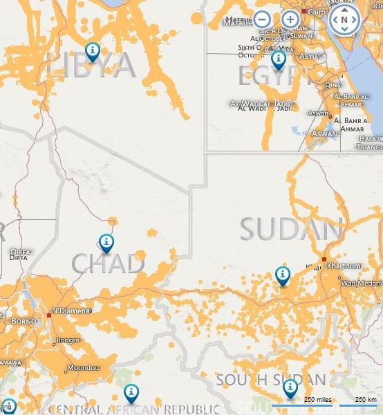 A GSM hálózat lefedettségi térképe azon a területen amerre Varbó járt a télen.