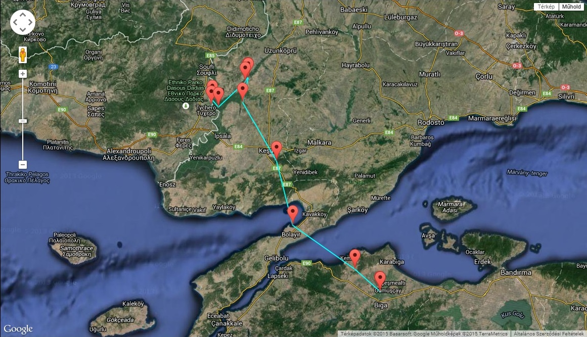 Picur a Dardanellákon átkelve ért vissza Európában