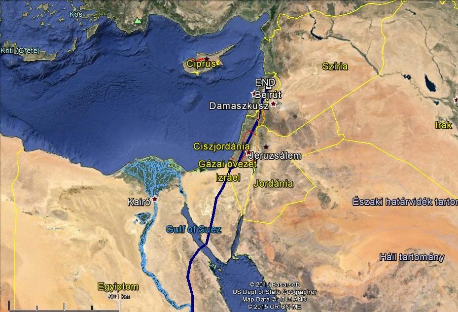 Veca átkelt a Vörös-tengeren és már Libanonban van 2015. március 15.