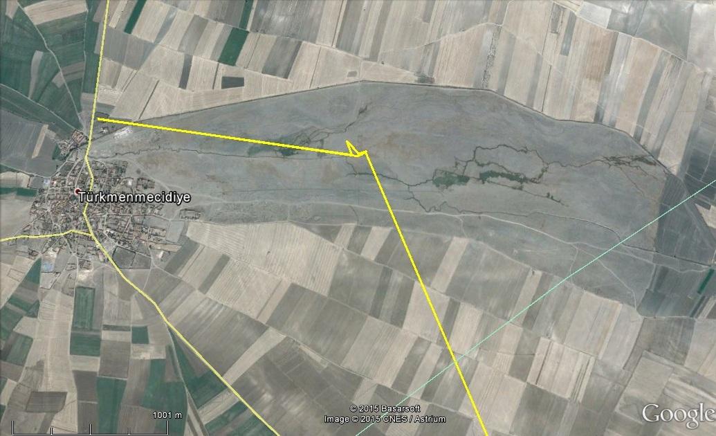 Szállásadó rét a folyó parton, ahol Vecáék megálltak, ő a faluban is járt 2015.03.21-én
