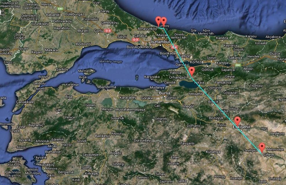 Veca ért Európába elsőként – a Boszporuszon keresztül 2015. március 22.