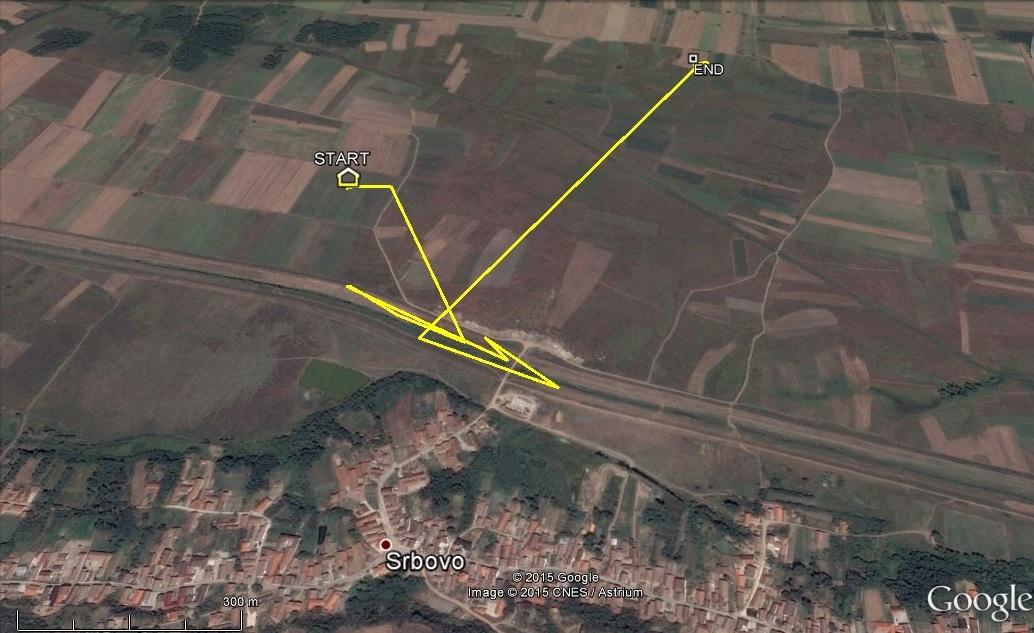 Veca egy 600 méter sugarú körben mozgott, főleg a csatorna parton vadászott (forrás: satellitetracking.hu)