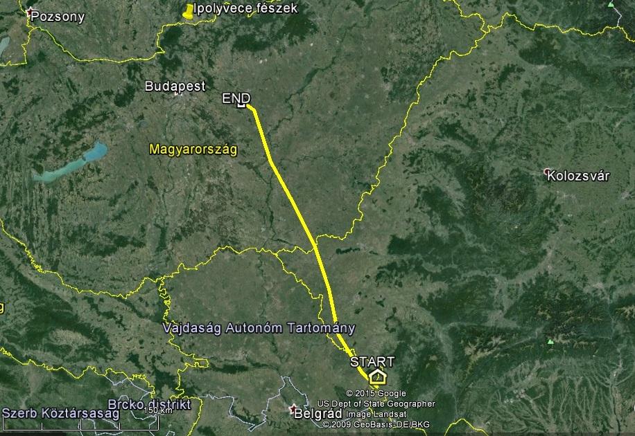 Innen Ipolyvece már csak egy ugrás kevesebb, mint 100km, ami egy gólyának 2-3 óra mindössze, jó időben...