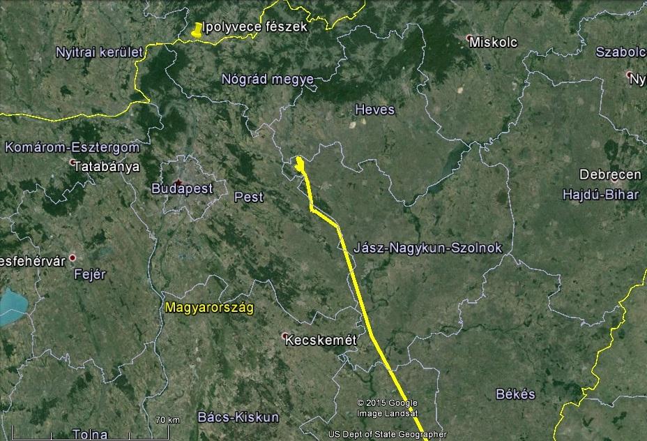 Innen Ipolyvece már csak egy ugrás kevesebb, mint 70km…
