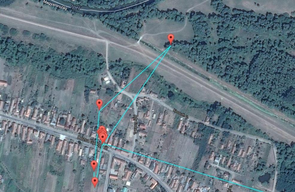 Veca a kertekben és az Derék-patak torkolatának környékén táplálkozott 17-19 óra között
